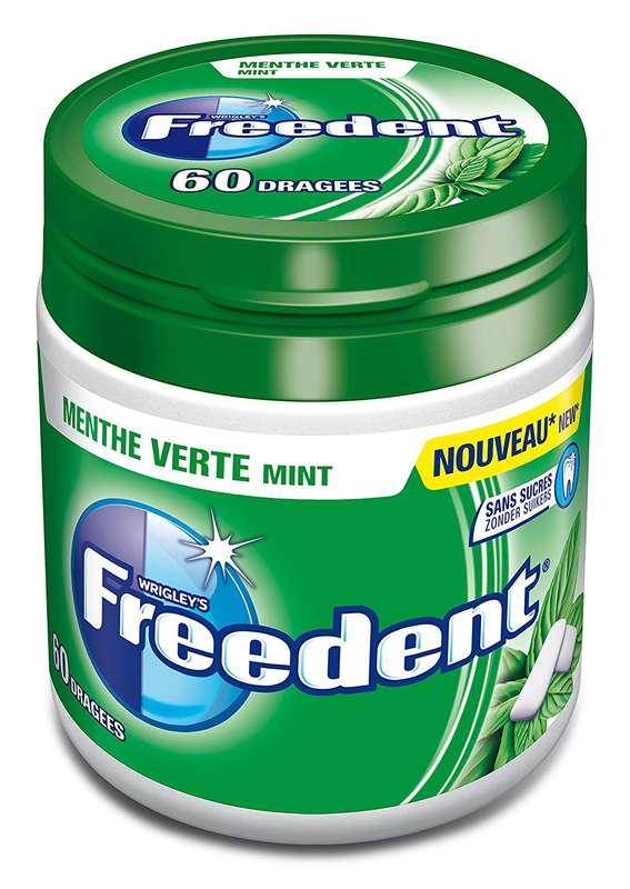 Chewing-gum dragée menthe verte sans sucre, Freedent (x 46)