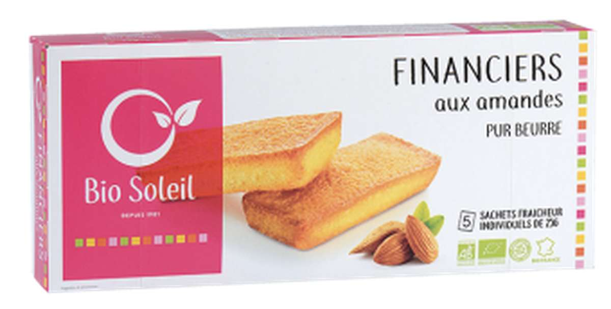 Financiers pur beurre aux amandes BIO, Bio Soleil (125 g)