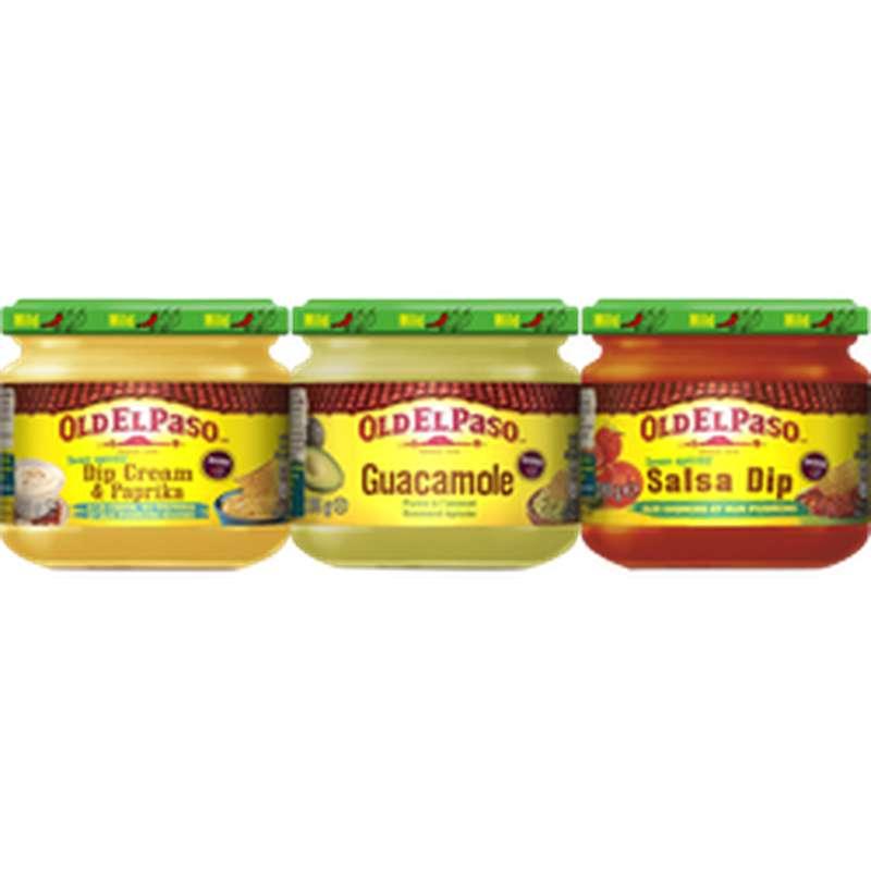 Sauces Salsa trio dip, Old El Paso (575 g)