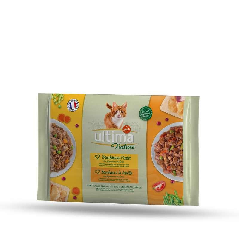 Pâtée pour chat poulet & volaille, Ultima (4 x 85 g)