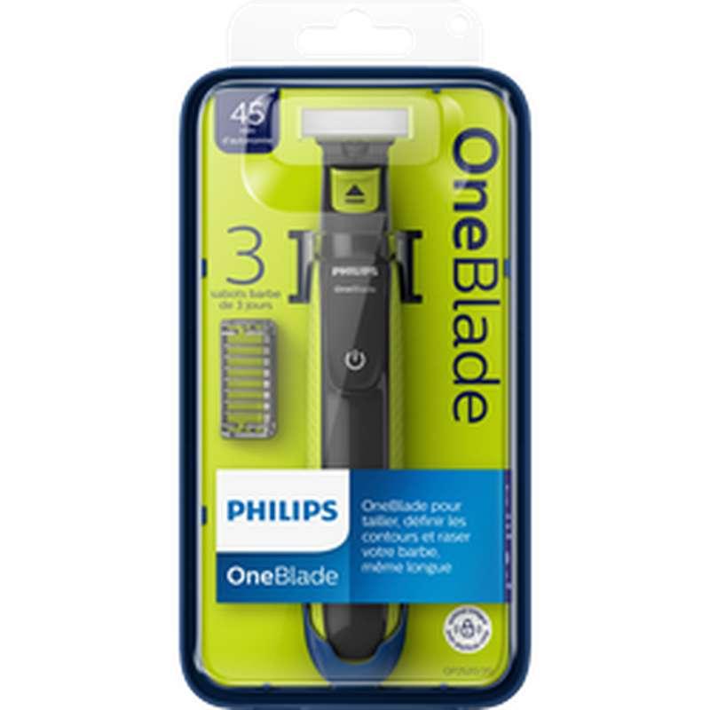 Rasoir One blade manche et 3 sabots, Philips (x 1)