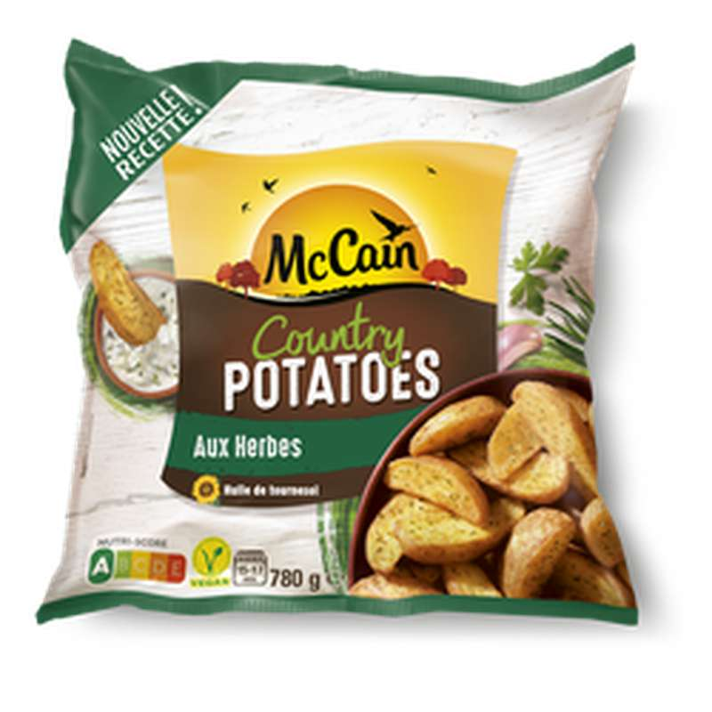 Country Potatoes aux Herbes, Mc Cain (780 g)