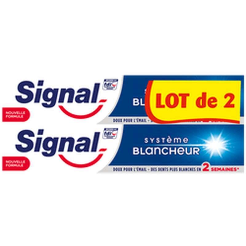 Dentifrice système blancheur, Signal LOT DE 2 (2 x 75 ml)