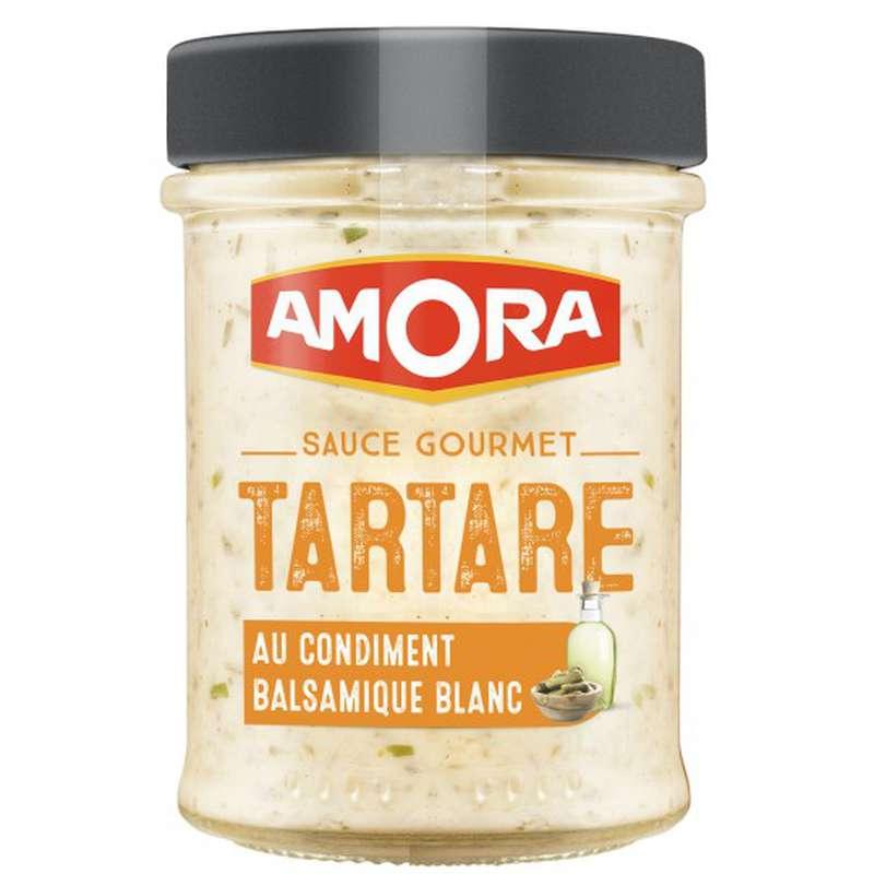 Sauces condiment balsamique tartare, Amora (188 g)