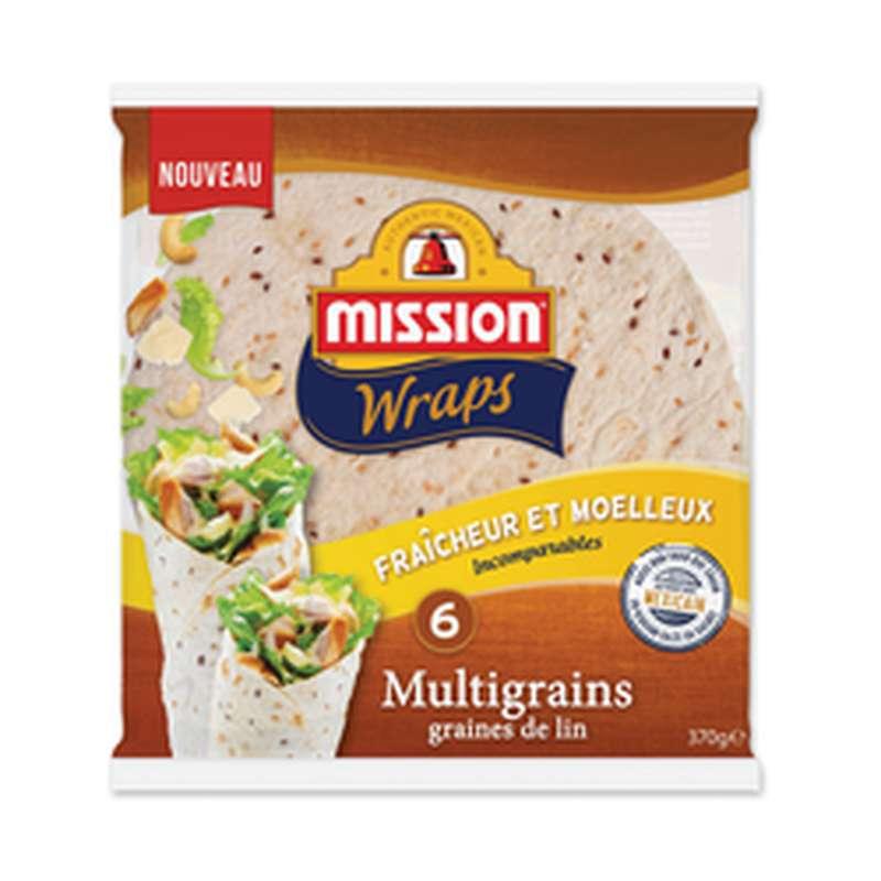 Wraps multigrains, Mission (x 6, 370 g)