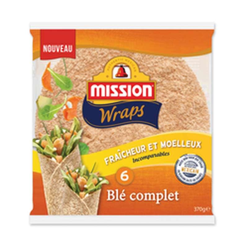 Wraps au blé complet, Mission (x 6, 370 g)