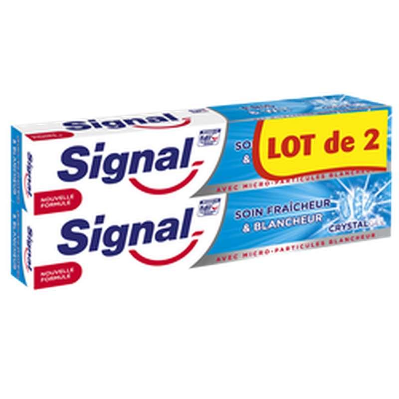 Dentifrice Gel Crystal blancheur, Signal LOT DE 2 (2 x 75 ml)
