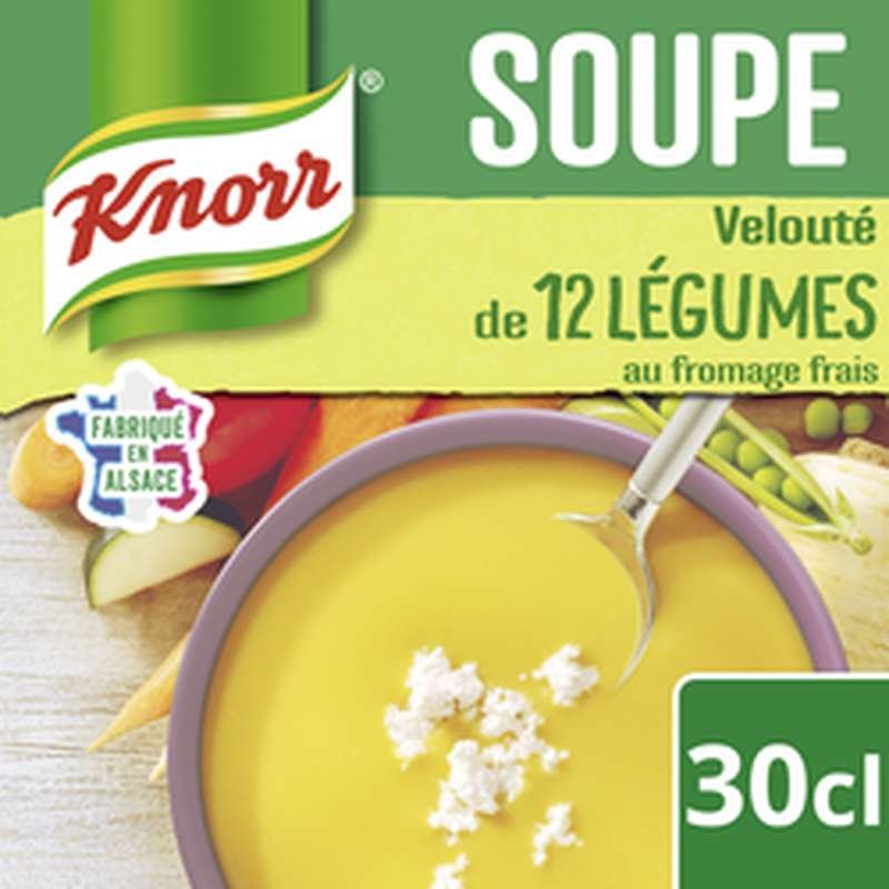Soupe 12 légumes fromage frais, Knorr (300 ml)