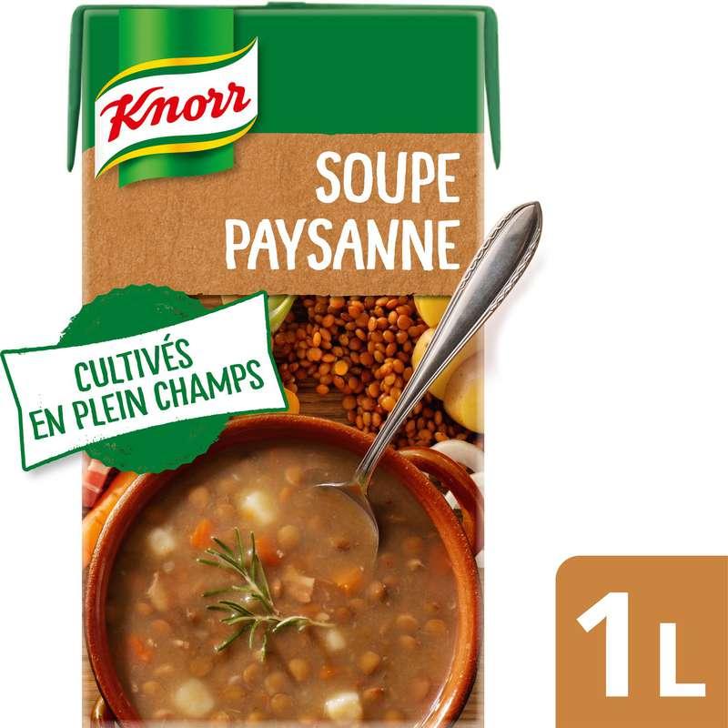 Soupe lentille lard fumé, Knorr (1 L)