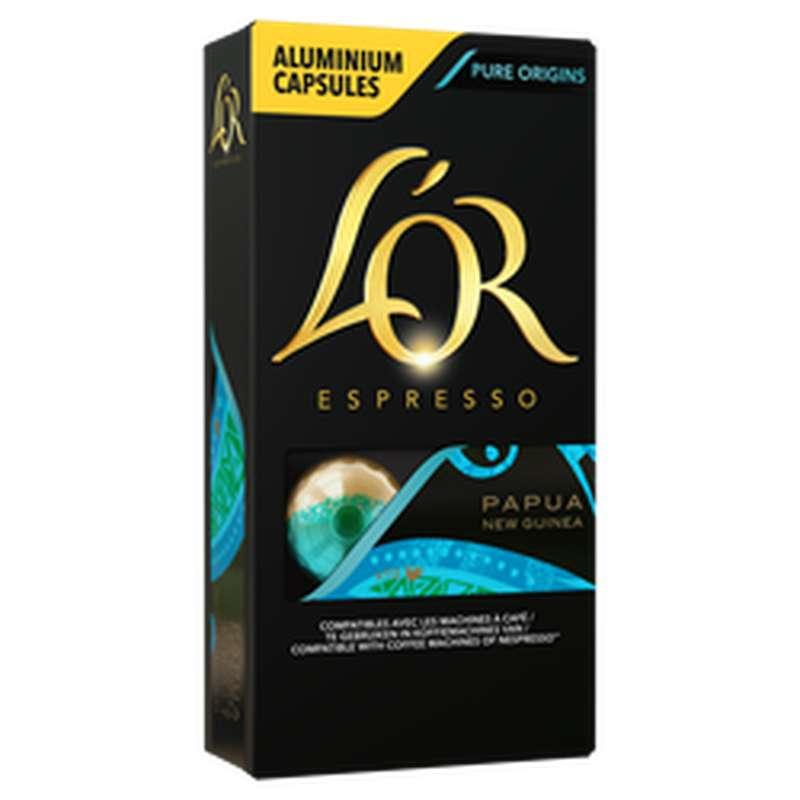 Café capsules Papouasie, L'Or Espresso (x 10, 52 g)