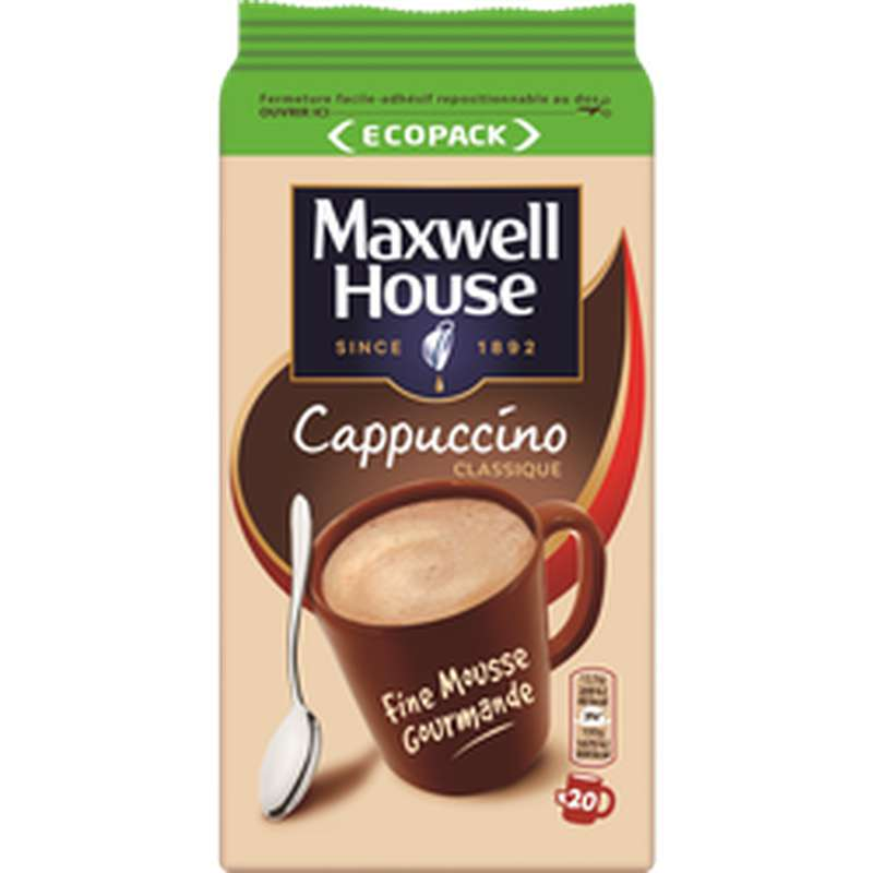 Café soluble Cappuccino, Maxwell House (250 g)