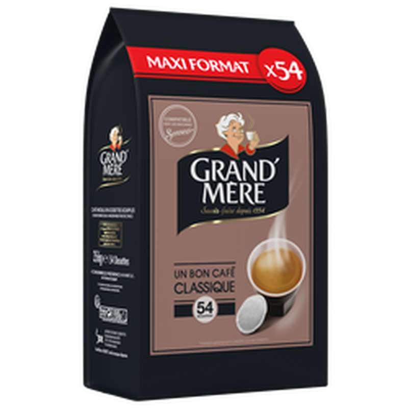 Café dosettes classique, Grand Mère (x 54, 356 g)
