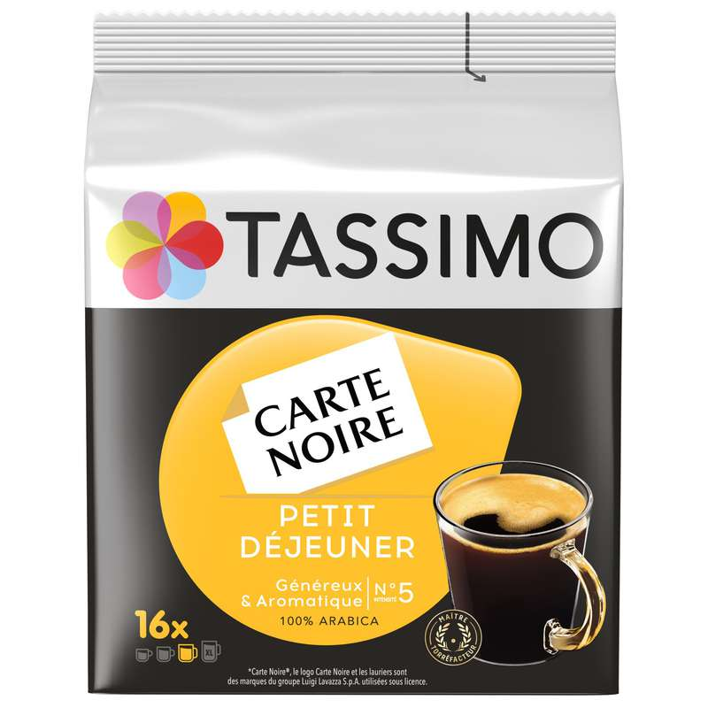 Café dosettes carte noire n°5, Tassimo (133 g)