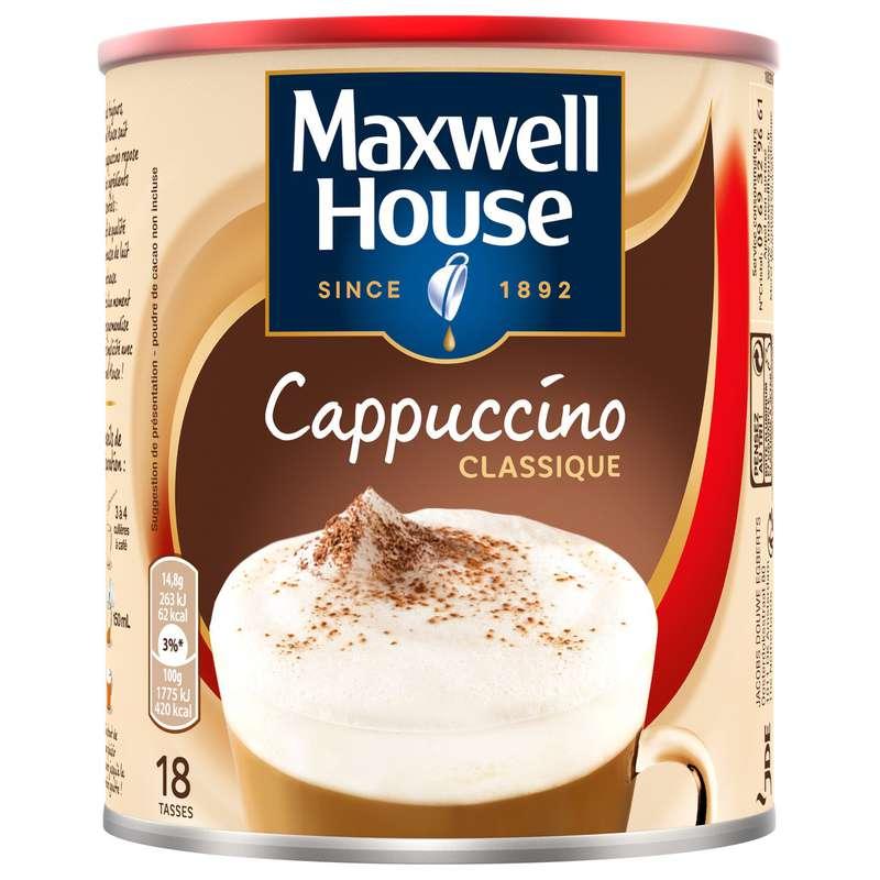 Café soluble cappuccino classique, Maxwell House (280 g)