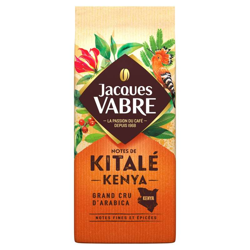 Café moulu Kitalé Kenya, Jacques Vabre (250 g)
