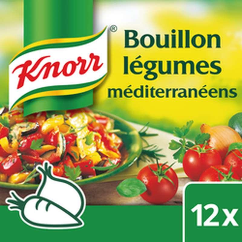 Bouillon aux légumes méditerranéens, Knorr (x 12, 132 g)