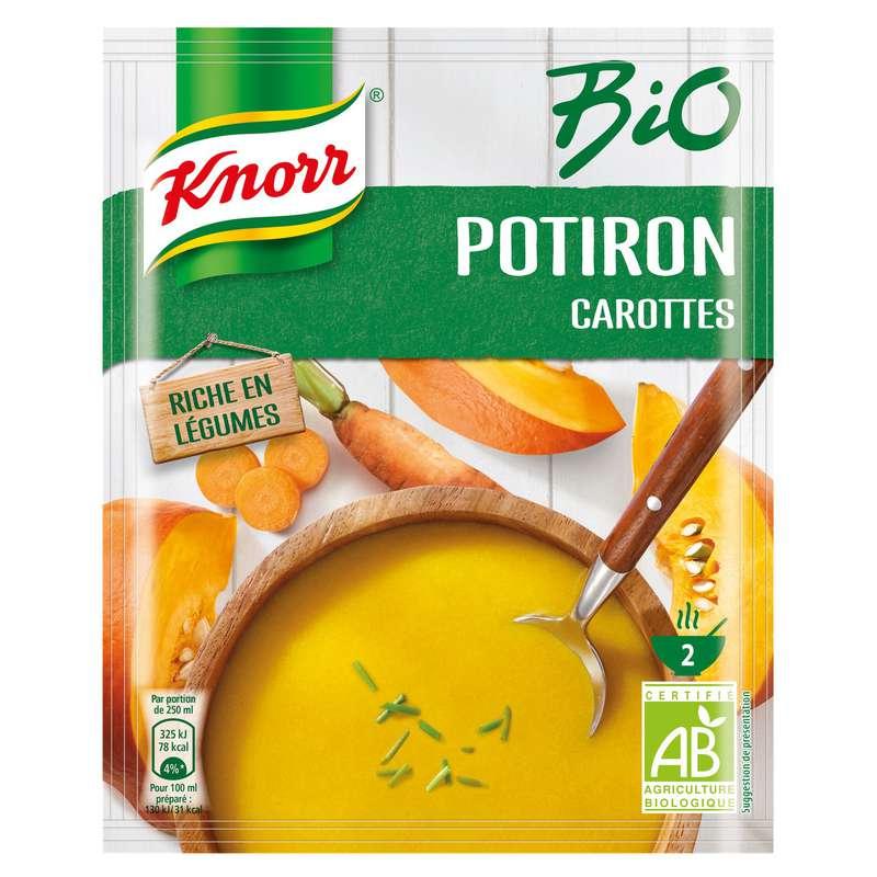 Soupe déshydratée potiron carottes BIO, Knorr (51 g)