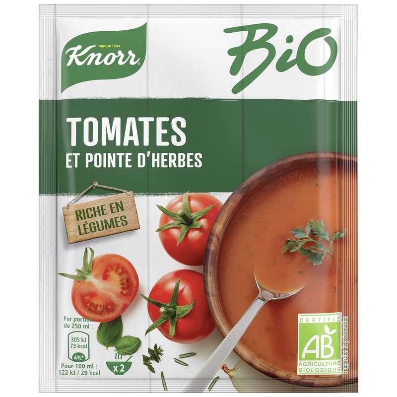 Soupe déshydratée tomates et pointe d'herbes BIO, Knorr  (45 g)