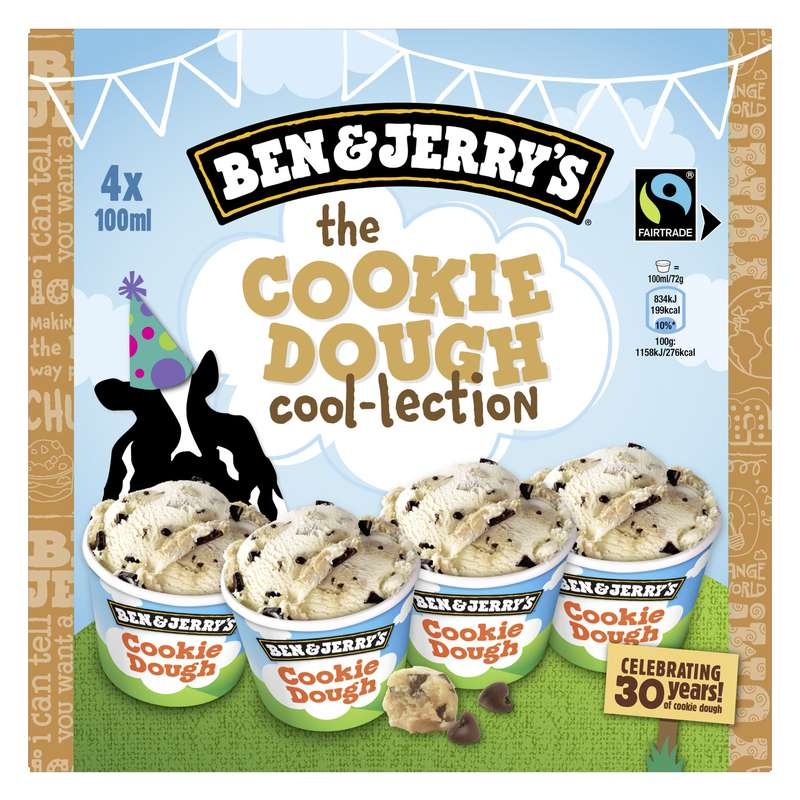 Glace The Cookie Cool-loction, Ben & Jerry's (4 x 100 ml)