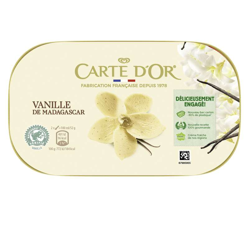 Glace vanille, Carte d'or (472 g)