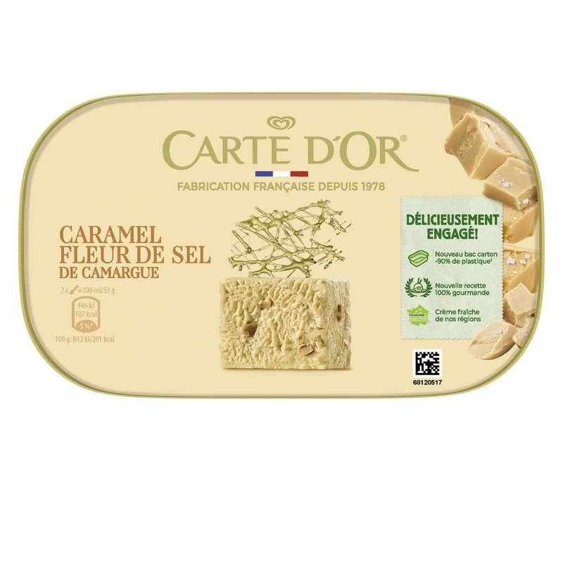 Glace caramel à la fleur de sel, Carte d'or (480 g)