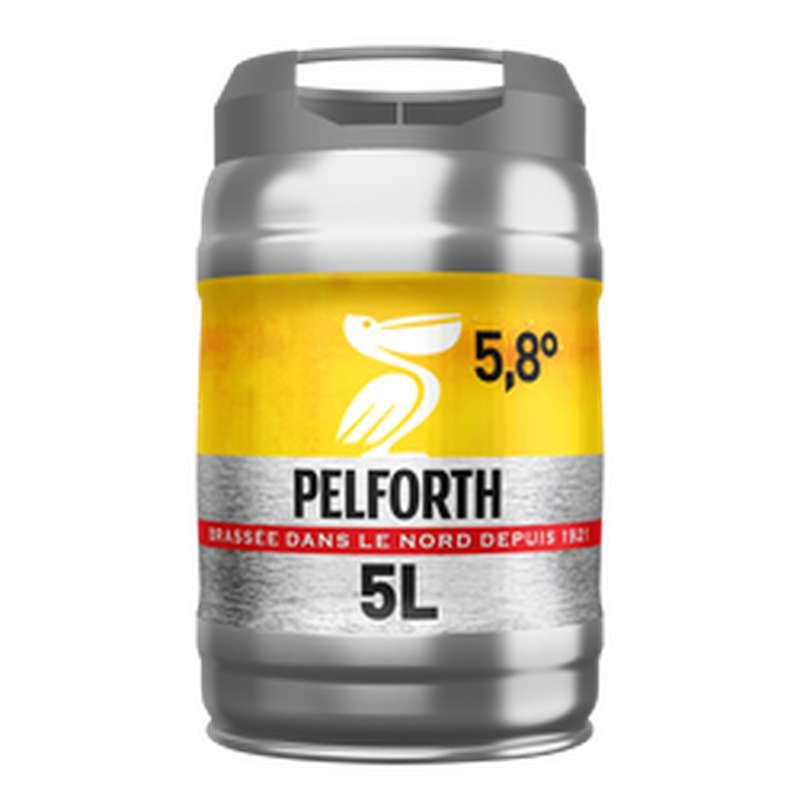 Bière blonde en fût, Pelforth 5,8° (5 L)