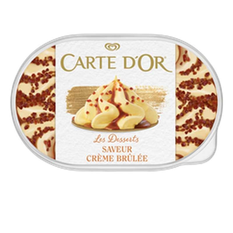 Crème glacée façon glacier crème brûlée, Carte d'Or (500 g)