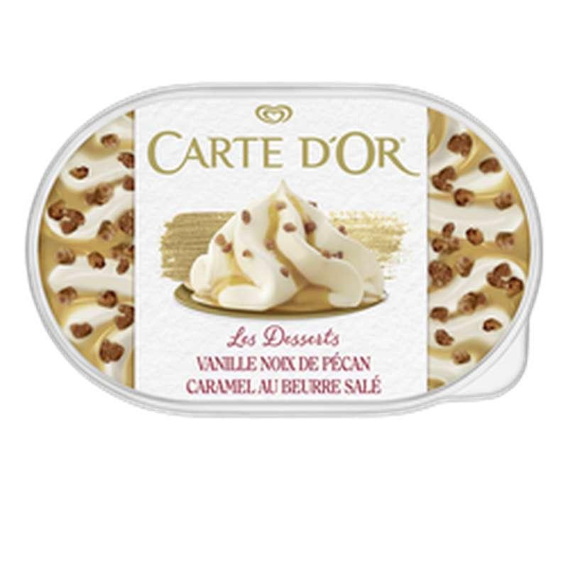 Crème glacée façon glacier vanille pécan, Carte d'or (500 g)
