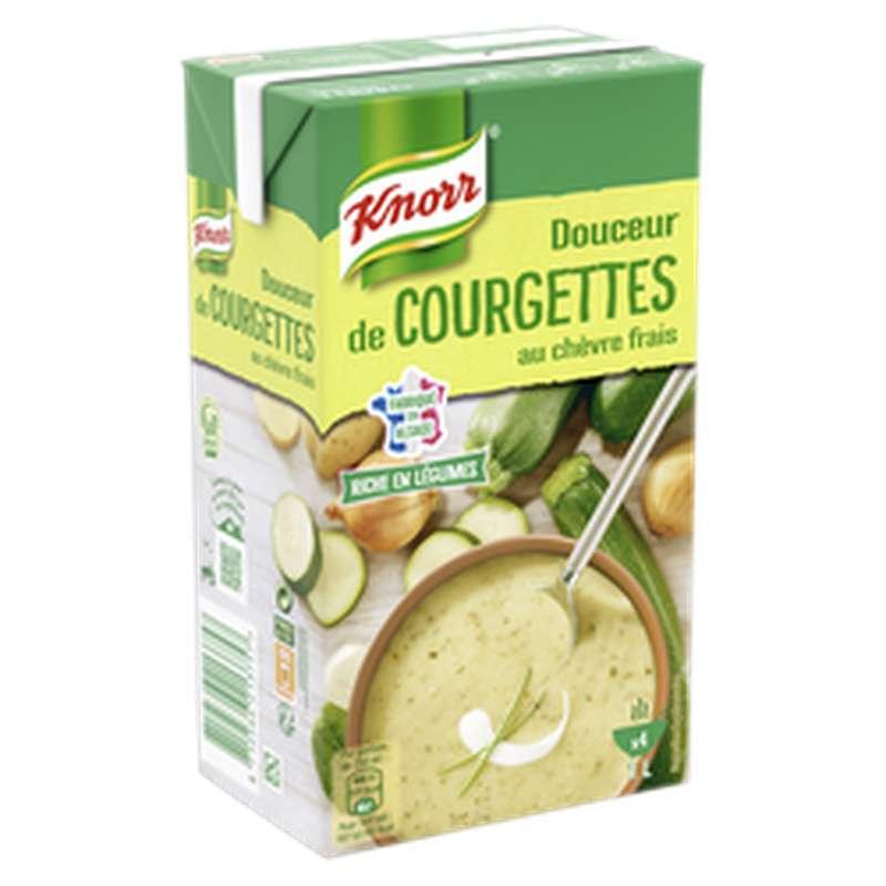 Soupe douceur de courgettes au chèvre frais, Knorr (1 L)
