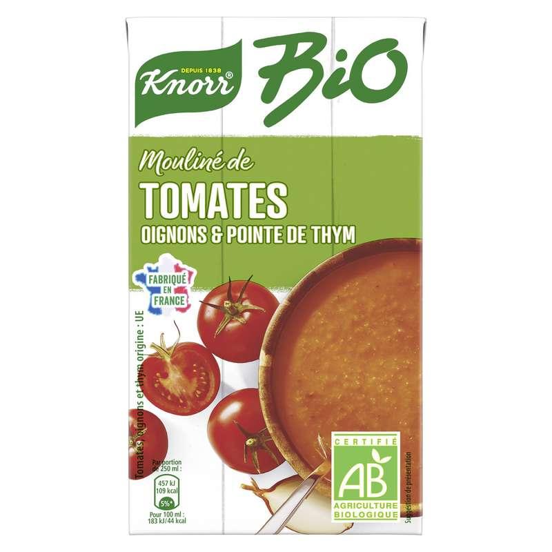 Soupe moulinée de tomates oignons BIO, Knorr (1 L)