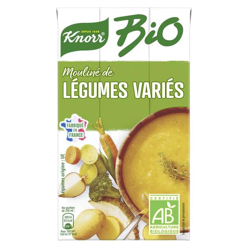 Soupe moulinée de légumes varies BIO, Knorr (1 L)
