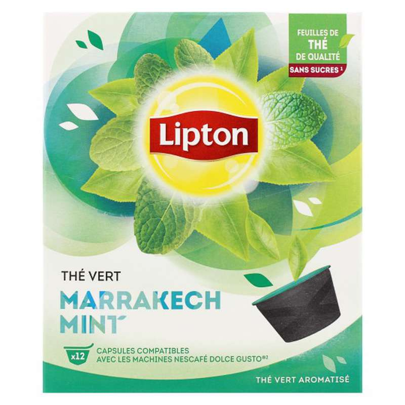 Thé Vert de Marrakech Mint, Lipton (12 capsules)