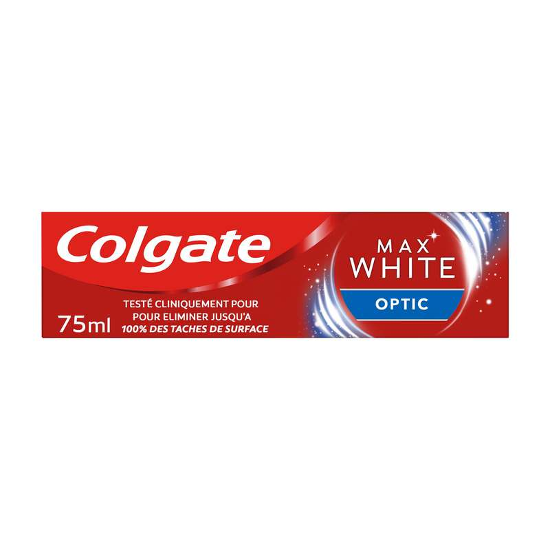 Dentifrice Max White Optic blancheur instantanée, Colgate (75 ml)