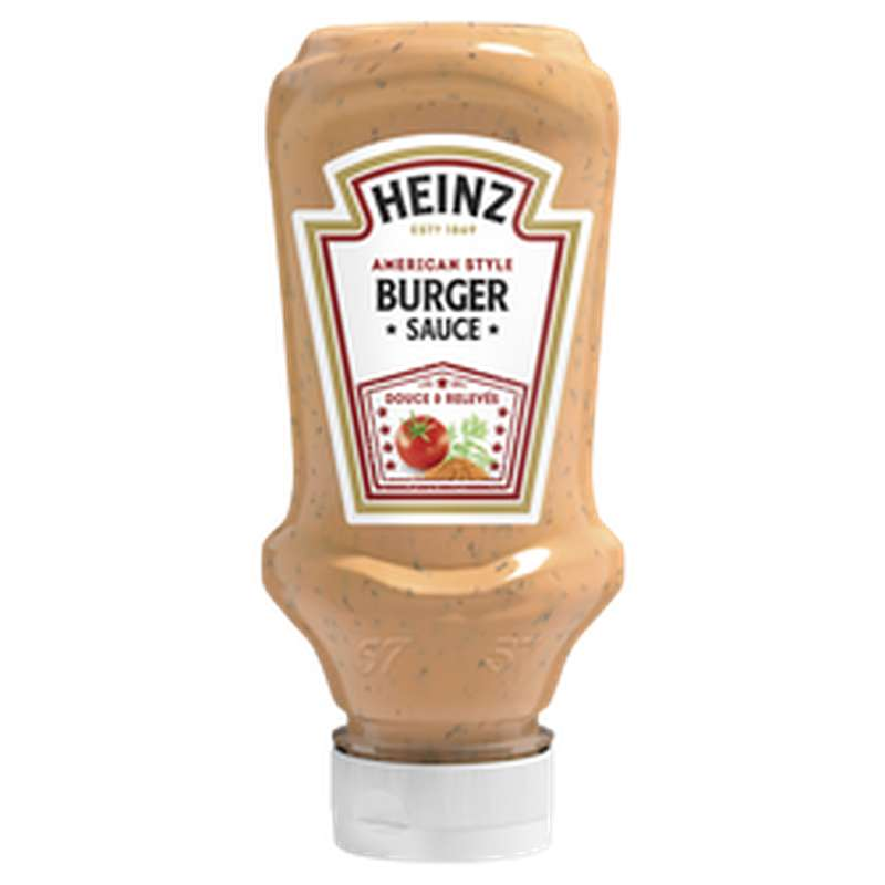 Sauce American burger flacon souple top down, Heinz (230 g)