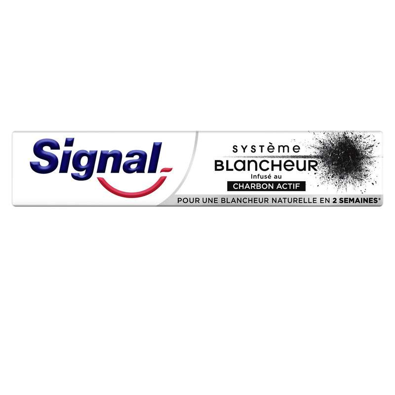 Dentifrice blancheur charbon actif, Signal (75 ml)