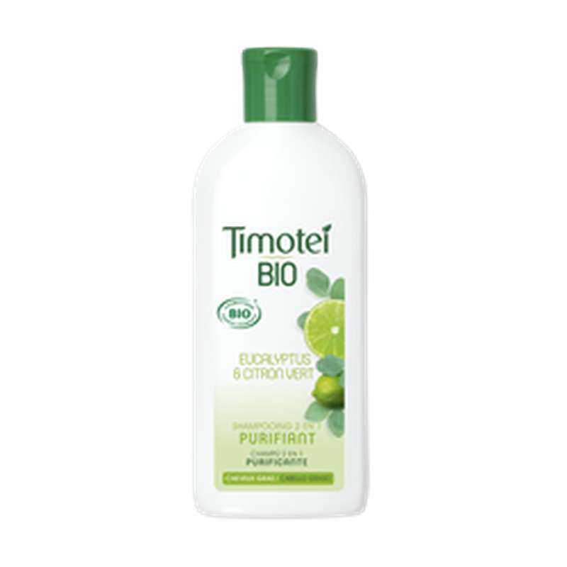 Shampoing 2 en 1 purifiant Eucalyptus BIO, Timotei (250 ml)