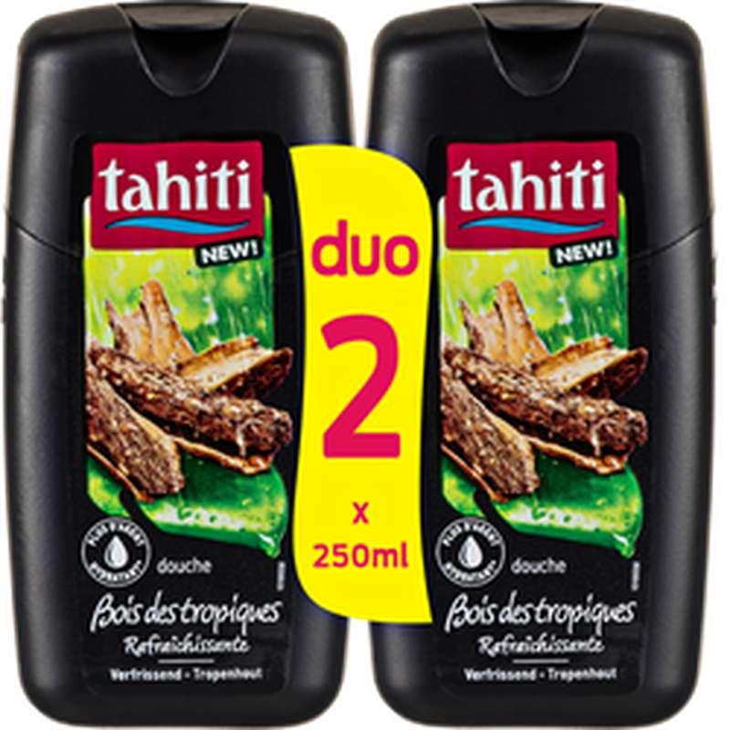 Gel douche bois des tropiques, Tahiti LOT DE 2 (2 x 250 ml)