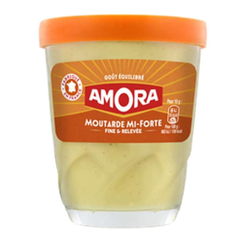 Moutarde mi forte, Amora (140 g)
