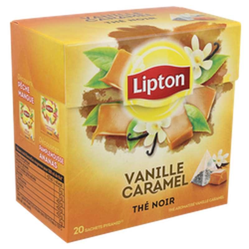 The noir Vanille et caramel, Lipton (x20)