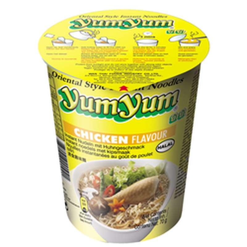 Soupe de nouilles arôme poulet, Yum Yum (70 g)