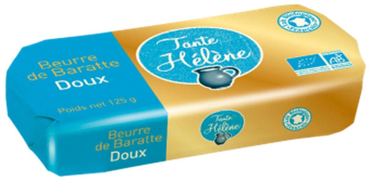 Beurre de baratte moulé doux BIO, Tante Hélène (125 g)