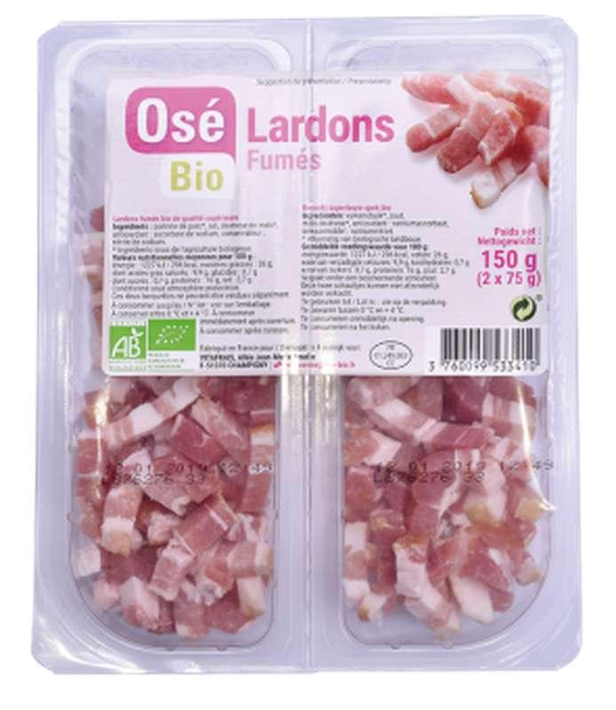 Lardons fumés BIO, Osé Bio (2 x 75 g)