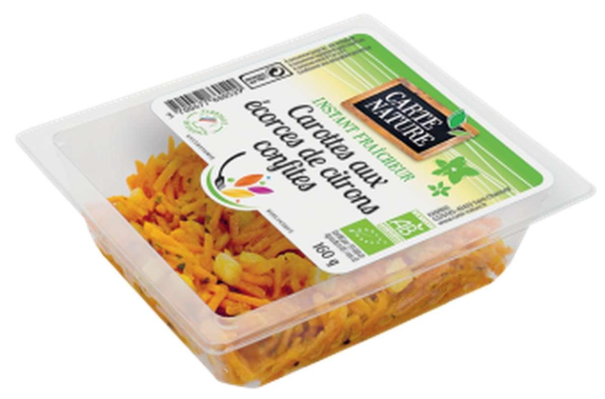 Carottes râpées au jus de citron BIO, Carte Nature (160 g)