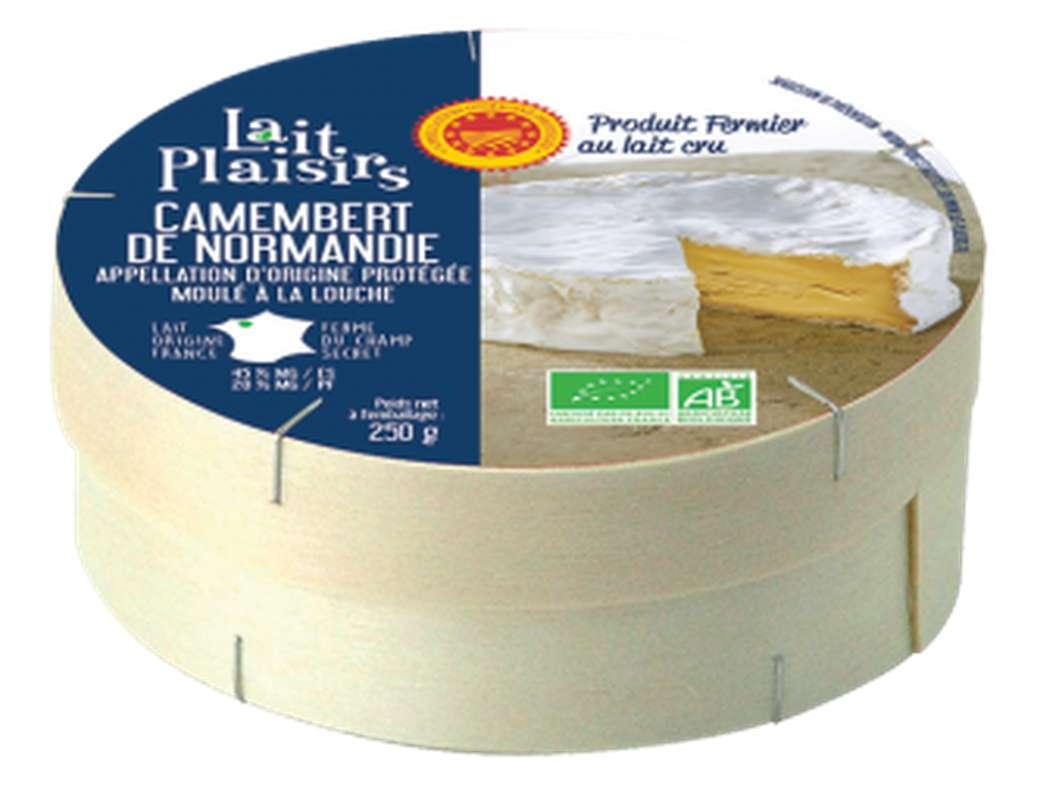 Camembert de Normandie AOP BIO fermier au lait cru moulé à la louche, 20 % MG/PF (250 g)