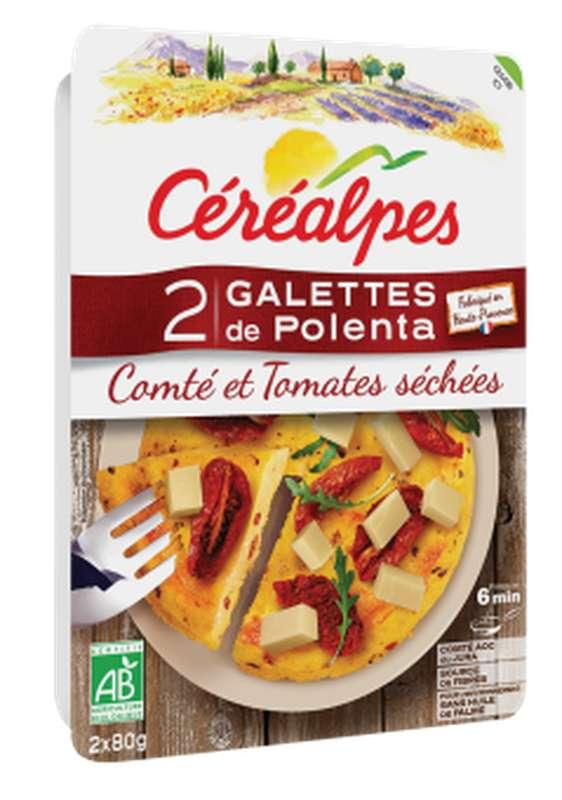 Galettes de polenta comté tomates BIO, Céréalpes (x 2, 160 g)
