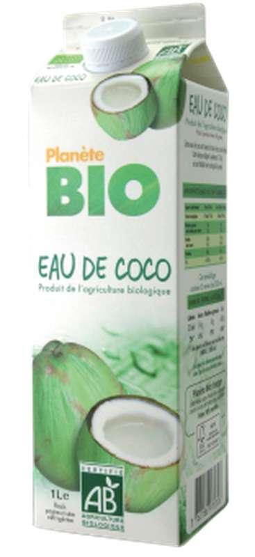 Eau de coco frais BIO 100 % pure, Planète Bio (1 L)