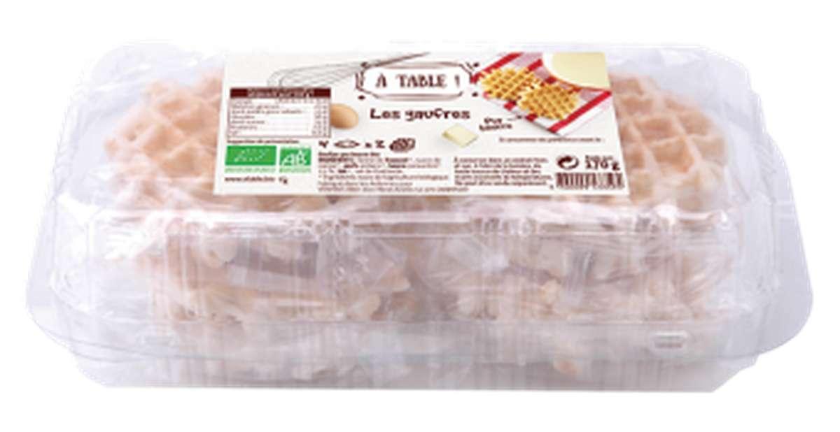 Gaufre artisanale pur beurre BIO, A Table ! (x 8, 170 g)