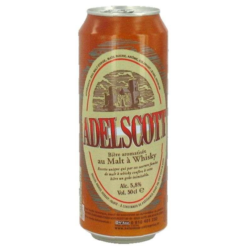 Adelscott bière aromatisée au malt à whisky (50 cl)