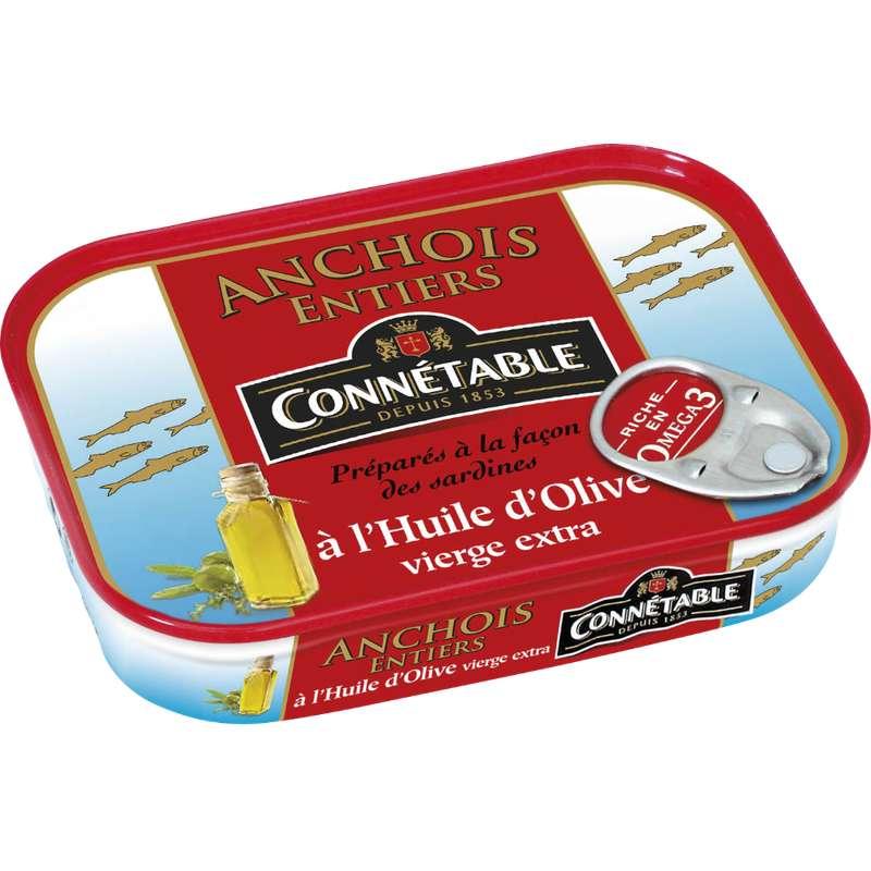 Anchois entiers à l'huile d'olive, Connetable (100 g)