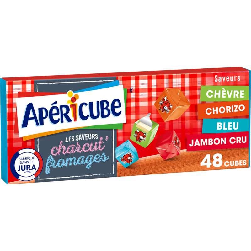 Apéricubes saveurs charcut'fromages (x 48, 250 g)